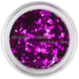 Díszítő konfetti - ciklámen, gyémánt