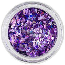 Díszítő gyémántok - halványlila, hologramm