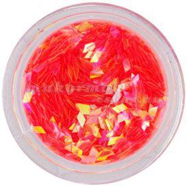 Nail art dísz - narancsárgás piros gyémánt