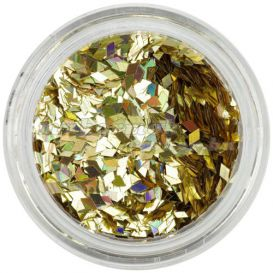 Arany flitterek aqua tipbe - gyémántok, hologramm