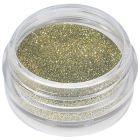 Zöld-arany porcelán por - glitteres 5ml