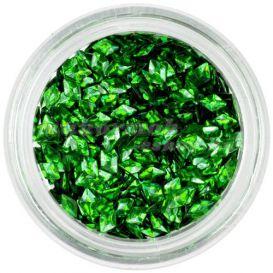 Díszítő 3D gyémánt - sötétzöld, hologramm