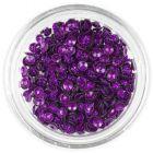Dekorációs konfetti - lila 3D kagylók, csillámló