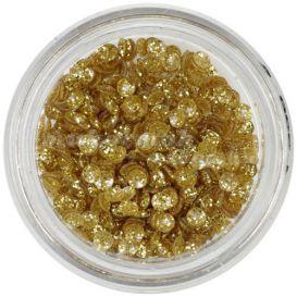 Dekorációs 3D konfetti - arany kagylók, csillám