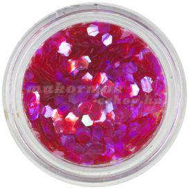Rózsaszínes lila nail art hatszög, aquaelements