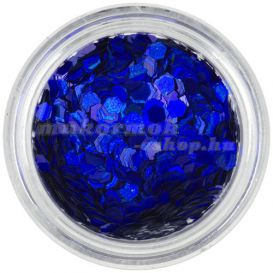 Sötétkék konfettik - hatszögek, aquaelements