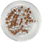 Kövecskék, gyémántok - barnás narancssárga