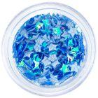 Textil csillagok - kék opálos