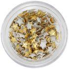 Aranyszínű körömdíszek - textil csillagok