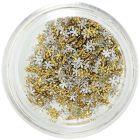 3D virágok, mini - aranyszínű