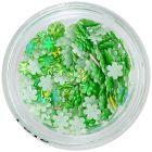 3D virágocskák – zöld gyöngyházfényes