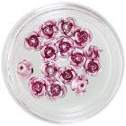 Kerámia körömdíszek - rózsaszín rózsák