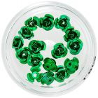 Körömdísz - zöld kerámia rózsa