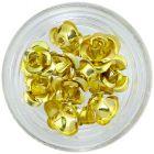 Aranyszínű kerámia rózsák, 10db