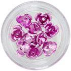 Rózsaszín kerámia rózsák, 10db