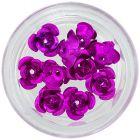 Kerámia körömdíszek, 10db - ciklámen-rózsaszín