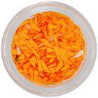 Körömdísz - narancssárga textil cseppek