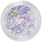Textil körömdíszek - lila cseppek