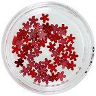 Piros gyöngyházas virágocskák