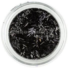 Körömdísz - fekete szálak