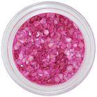 Sötét rózsaszín körömdísz - rendszertelen törmelék