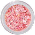 Finom rózsaszín körömdísz - rendszertelen törmelék
