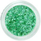 Szabálytalan alakú körömdíszek - zöld