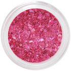 Gyöngyházfényes sötét rózsaszín körömdísz - rendszertelen törmelék