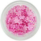 Textil virágok – gyöngyházfényes világos rózsaszín