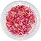 Nail art díszek - kis piros textil virágok