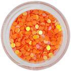 Nail art díszek - narancssárga karikák visszfénnyel