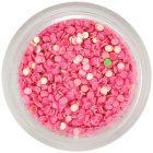 Körömdíszítő körök – gyöngyházas rózsaszín