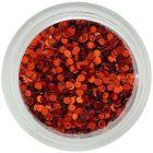 Körömdíszek - karikák, sötét narancssárga
