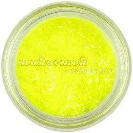 Körömdísz - neonsárga szálak