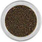 Körömdíszek - 0,5mm, fekete-arany gyöngyök