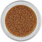 Világosbarna gyöngyök körmökre, 0,5mm