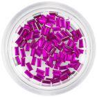 Díszítő kövek, téglalapok – ciklámen-rózsaszín