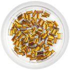 Narancssárga kövek körmökre – téglalapok/strasszkő