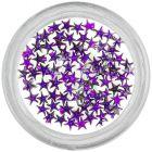 Sötétlila kövek körmökre - csillagok/strasszkő