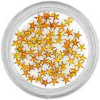 Díszítő kövek, csillagocskák – narancssárga/strasszkő