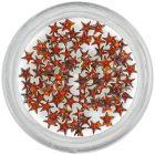 Barna kövek körmökre – csillagok/strasszkő