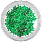 Smaragdzöld kövek körmökre – virágocskák/strasszkő