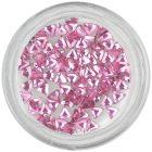 Világos rózsaszín körömdíszítő kövecskék – háromszög/strasszkő