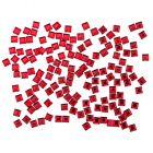Piros körömdíszek - négyzet alakú kövecskék, 140db