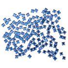Kövecskék körmökre - négyzetek, kék, 140db