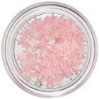 Finom rózsaszín nail art díszek - gyöngyházas csillagok