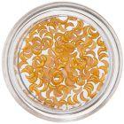Körömdíszítő holdacskák - sárgás narancssárga, gyöngyházfényes