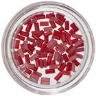 Körömdíszítő téglalapok - piros, gyöngyházfényes