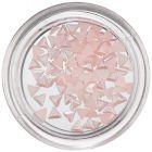 Gyöngyházas körömdíszek – finom rózsaszín háromszögek