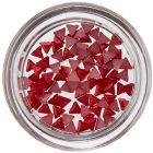 Körömdíszítő háromszögecskék - piros, gyöngyházfényes